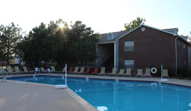Pool at Apartments in Lawton