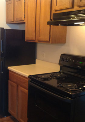 Kitchen of apartments in Lawton