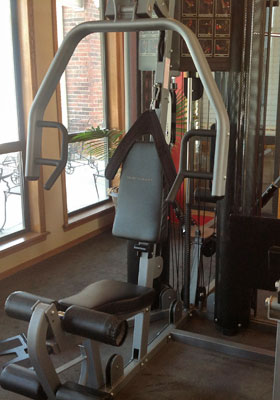 Fitness Room at apartments in Lawton