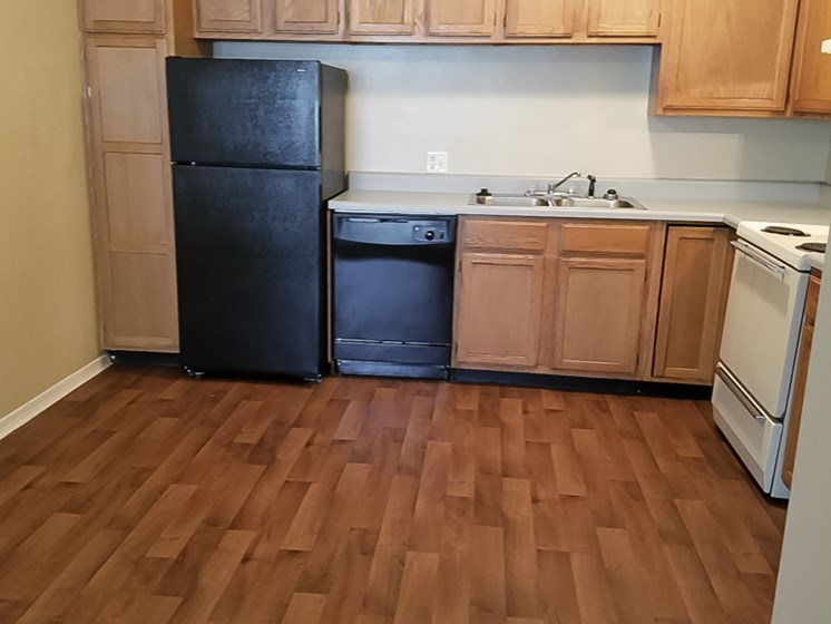 kitchen at Willowpark Apartment Homes in Lawton OK