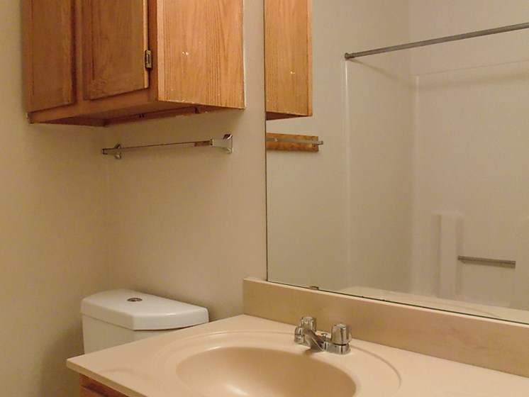 vanity at Willowpark Apartment Homes in Lawton OK