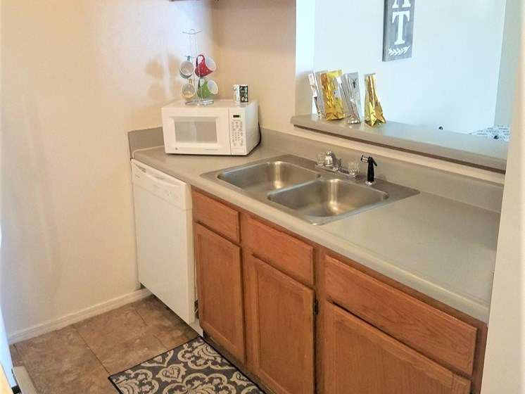 Fully equipped kitchen at Willowpark Apartment Homes in  Lawton Oklahoma