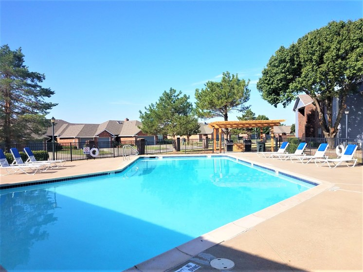 Glistening swimming pool at Willowpark Apartment Homes in Lawton Oklahoma