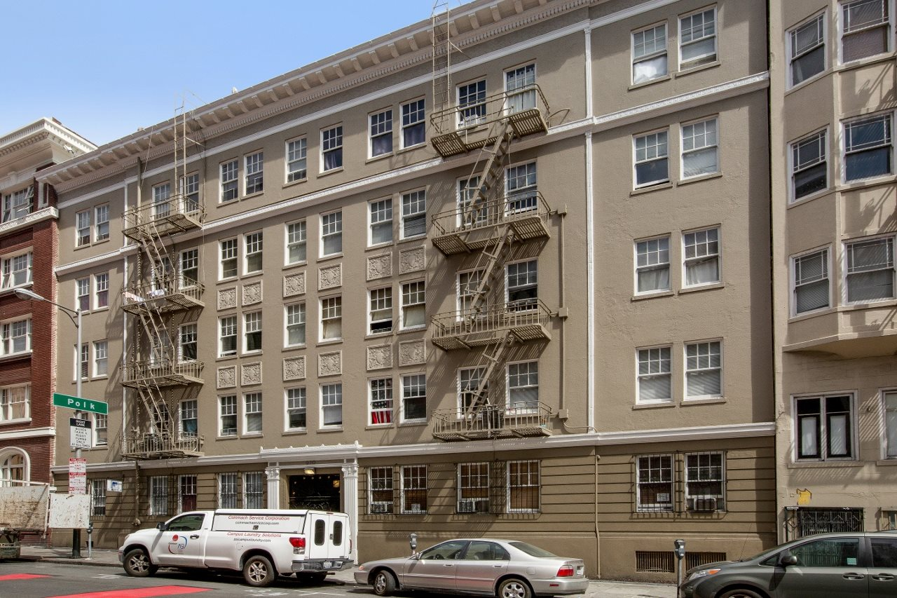 San Francisco Polk Gulch Apartment Building