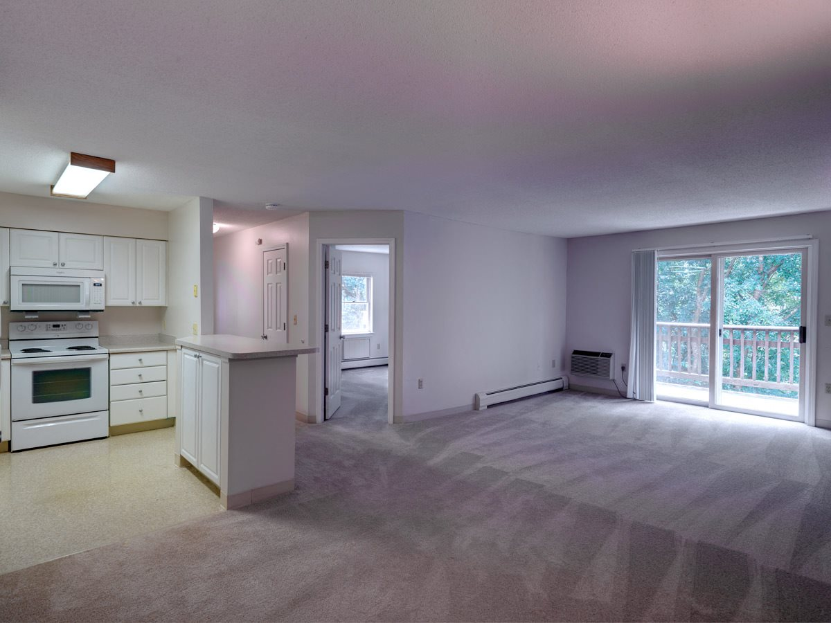 Two bedroom apartment with balcony at Littlebrook Apartments in Hudson, MA