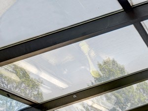 Community clubroom sunroof at North Stoughton Village Apartments in Stoughton, MA