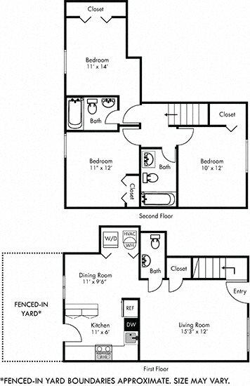 Floor Plans of Belmont Hills in Richmond, VA