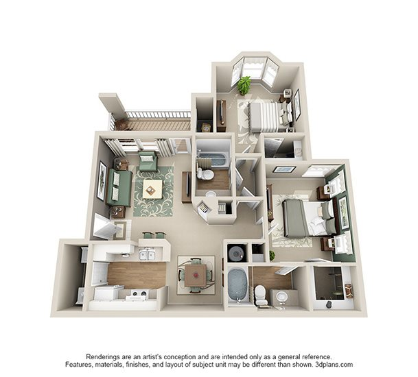 Charbonneau Apartments: Floor Plans Of Bexley Square At Concord Mills In Concord, NC