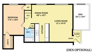 One Bedroom - Den Opt.
