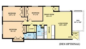 Three Bedroom - Den Opt.