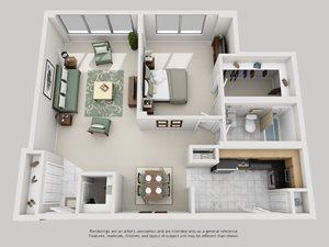 1 Bedroom C - Upgraded