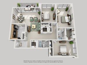 3 Bedroom - Upgraded