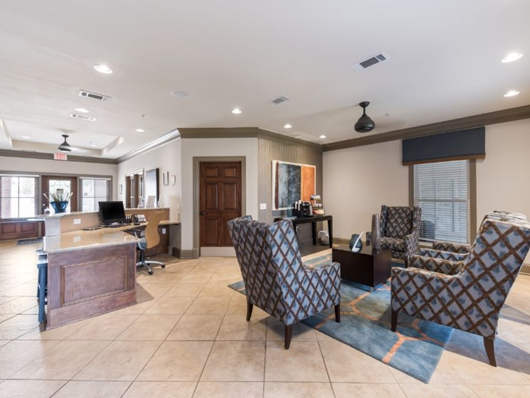 Leasing Office Interior at Cumberland Place Apartment Homes, Tyler, Texas
