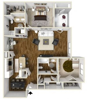 Two Bedroom W-Study