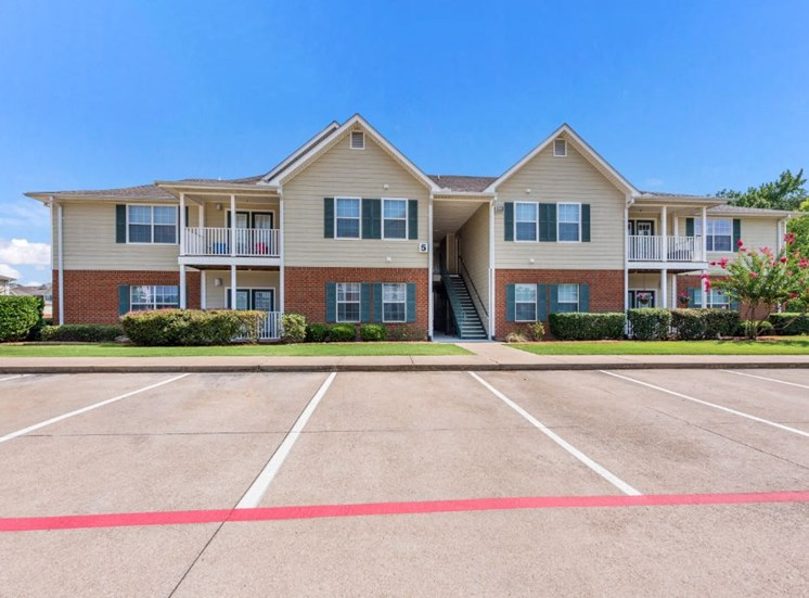 Two Story Apartment Exterior at The Madison of Tyler Apartment Homes, Tyler, Texas