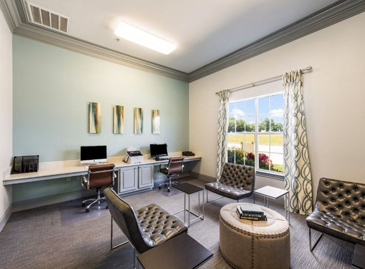 Fully Equipped Business Center at The Madison of Tyler Apartment Homes, Tyler, TX