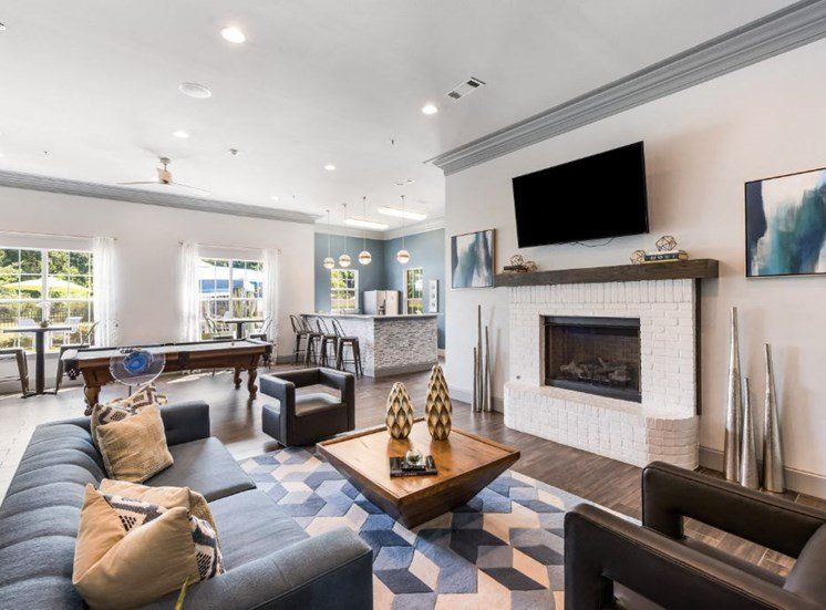 Grand Clubhouse Interior at The Madison of Tyler Apartment Homes, Tyler, Texas