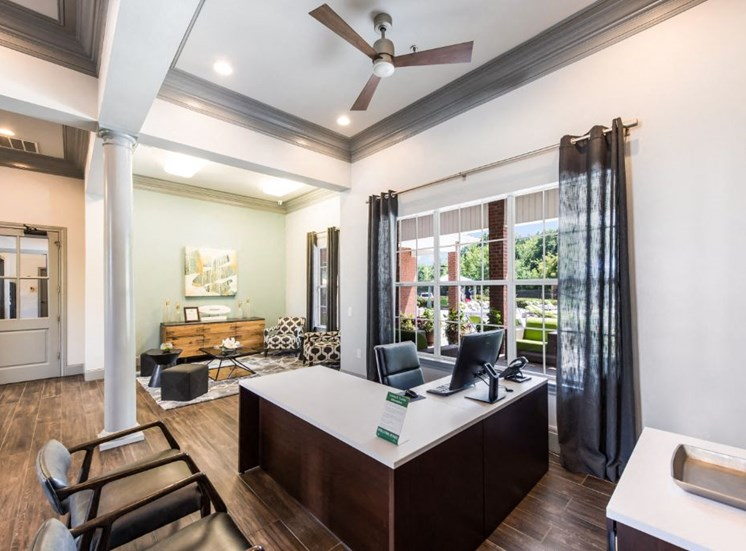 Leasing Office with a View at The Madison of Tyler Apartment Homes, Tyler, Texas