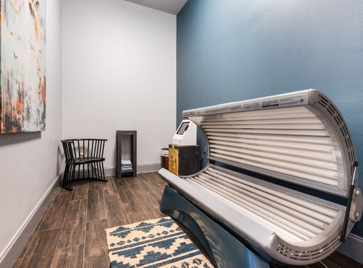 State of the Art Tanning Bed at The Madison of Tyler Apartment Homes, TX