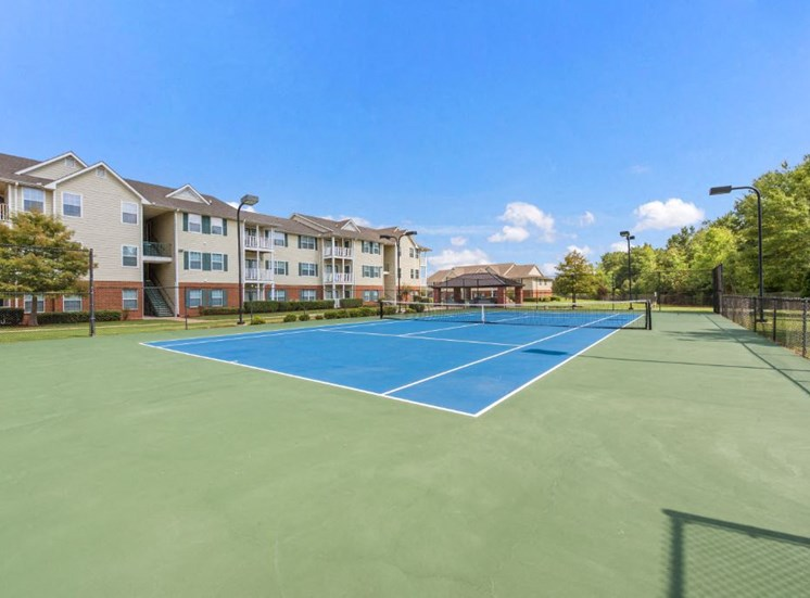 Resort Style Tennis Court at The Madison of Tyler Apartment Homes, Tyler, 75703