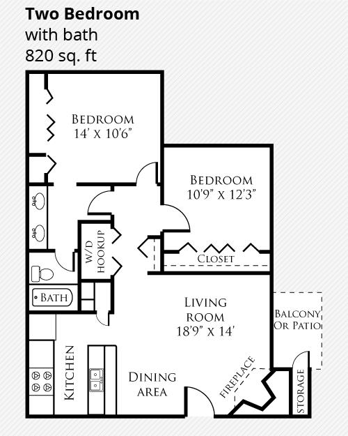 2 Bedroom Remodeled