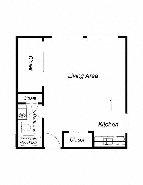 Studio Floor Plan 5