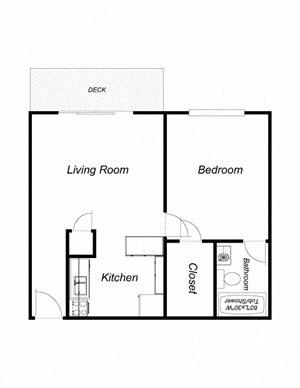 1 Bedroom 1 Bathroom (572)