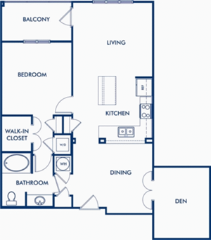 The Phipps - 1 Bedroom with Den