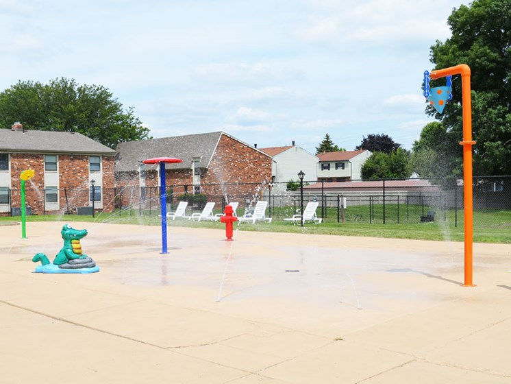 New splash park at Wake Robin Apartments in North Columbus, OH