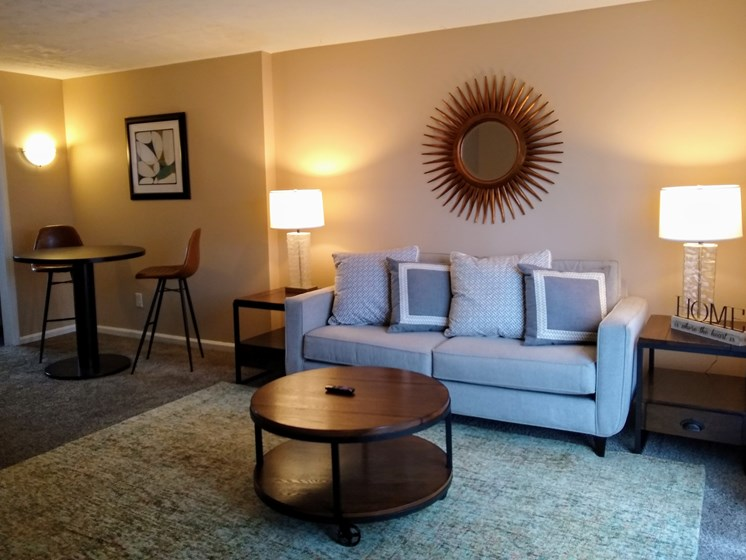 Dining and Living Area at Wake Robin Apartments