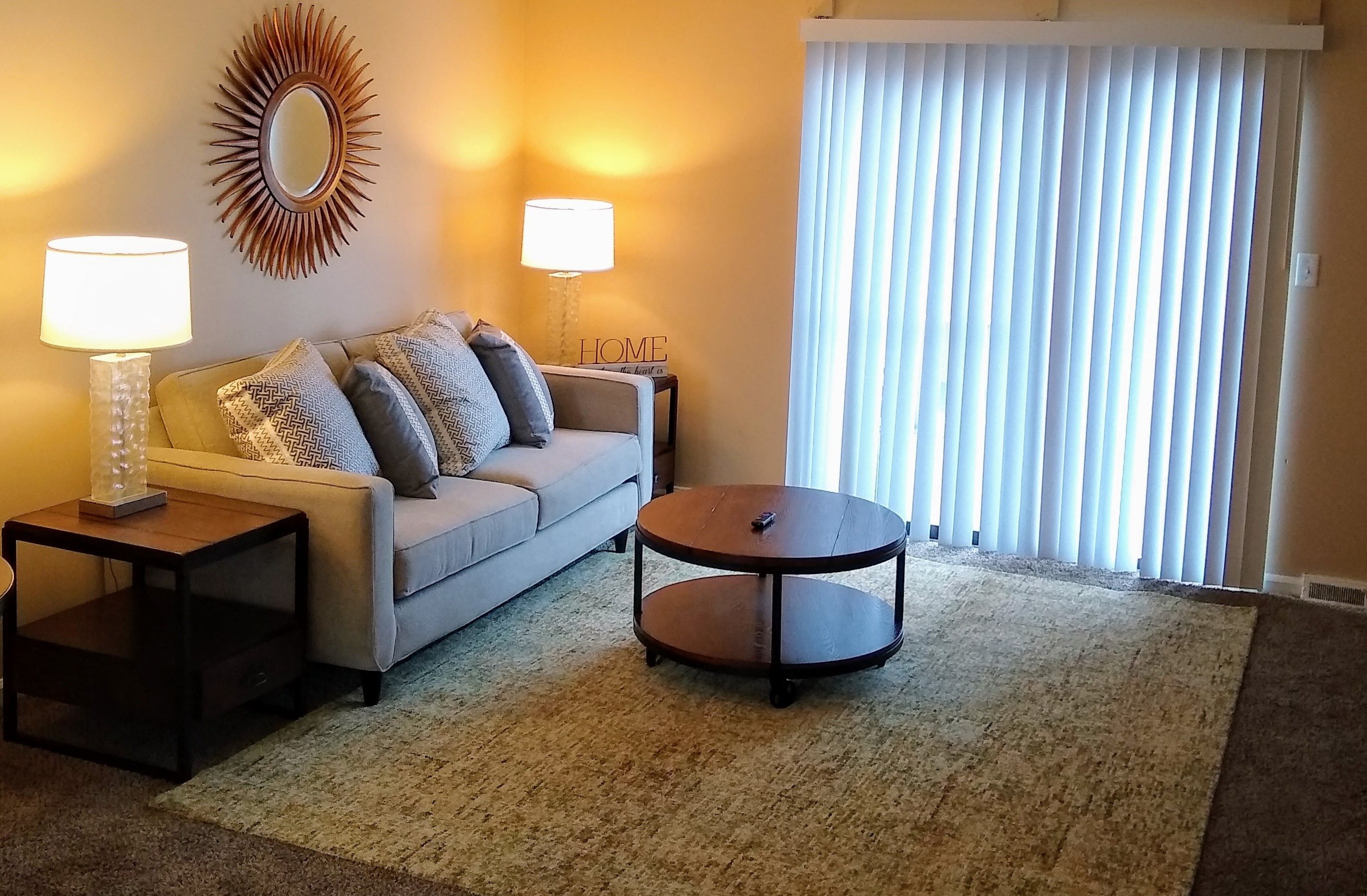 Living Room at Wake Robin Apartments in Columbus, OH