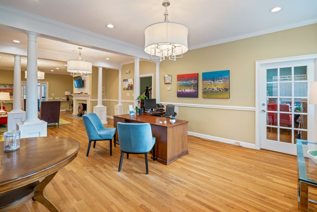 Leasing Office Interior at Hawthorne Northside in Asheville NC