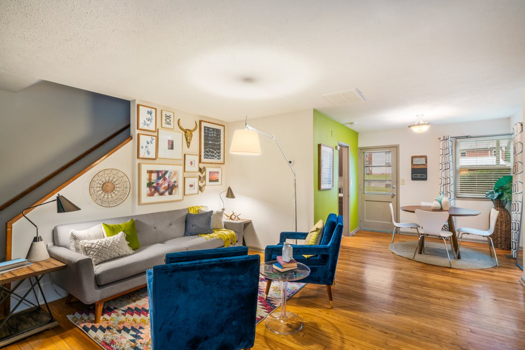 Living Room at Hawthorne Northside in Asheville NC