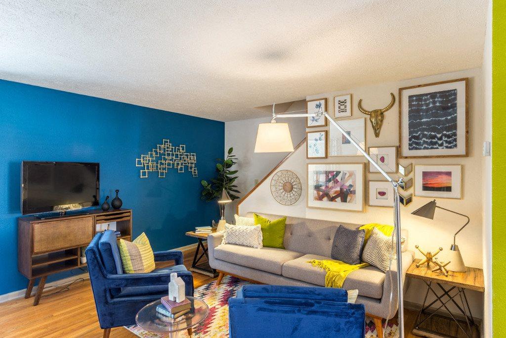 Living Room at Hawthorne Northside, Asheville, NC 28804