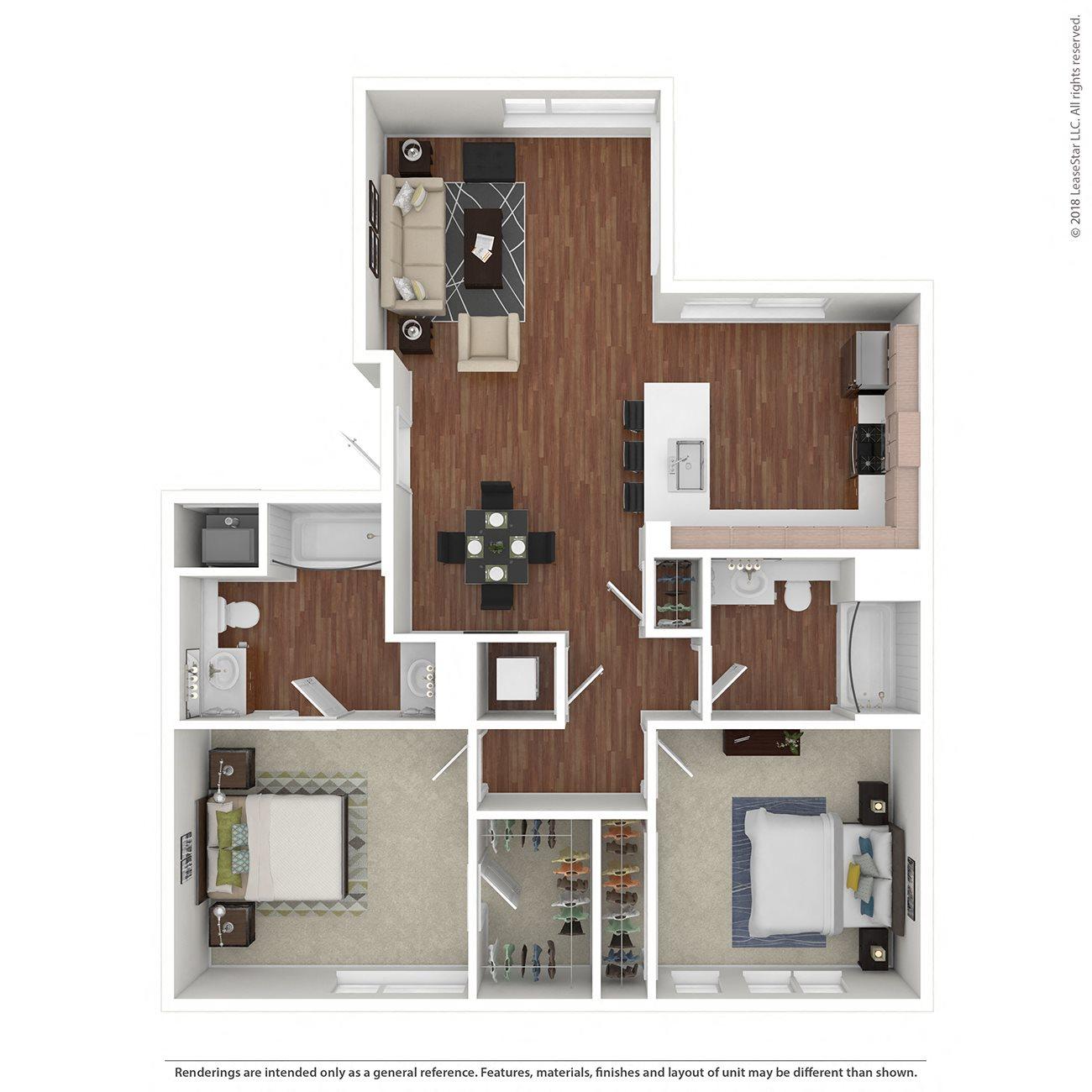 2x2B Floor Plan 7
