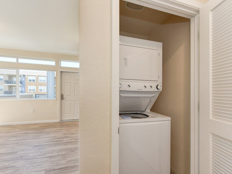 In Unit Washer Dryer for Laundry and Hardwood Inspired Floors
