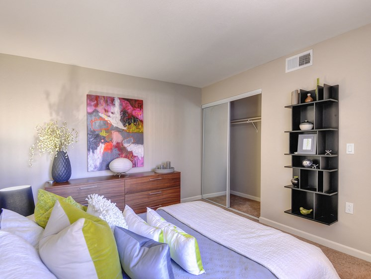 Luxury Apartment Model Unit Large Bedroom with Closet Storage Space