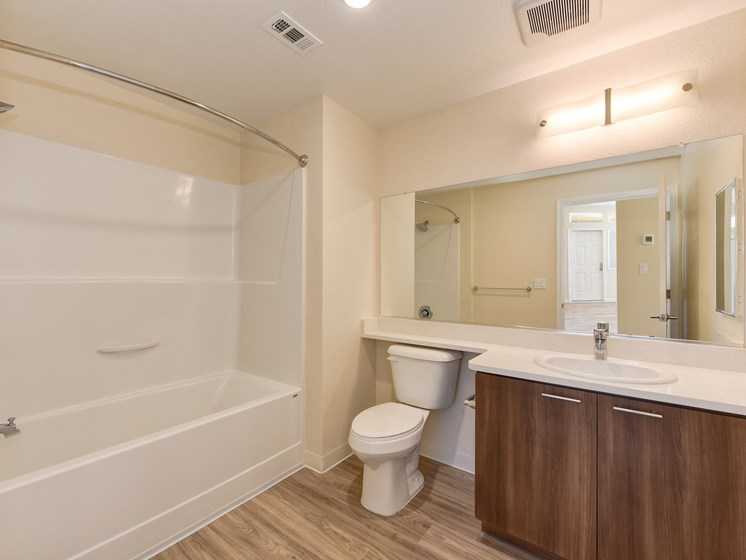 Luxury Apartment Model Unit Master Bathroom with Designer Touches