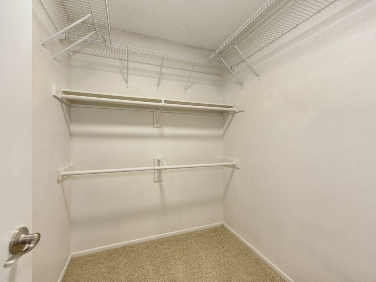 Luxury Apartment Extended Closet for Extra Storage