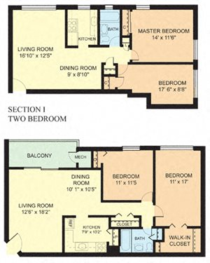 Two Bedroom (2A) A