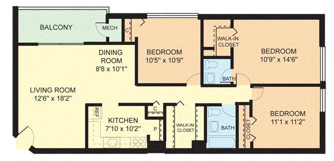Three Bedroom (3A)
