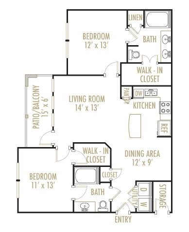 Navarro 2x2 Floor Plan 8