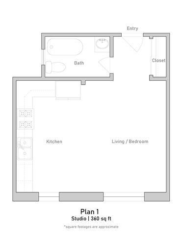 Studio - Plan 1