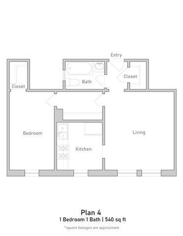 1 Bedroom - Plan 4