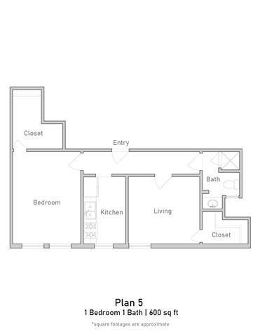 1 Bedroom - Plan 5