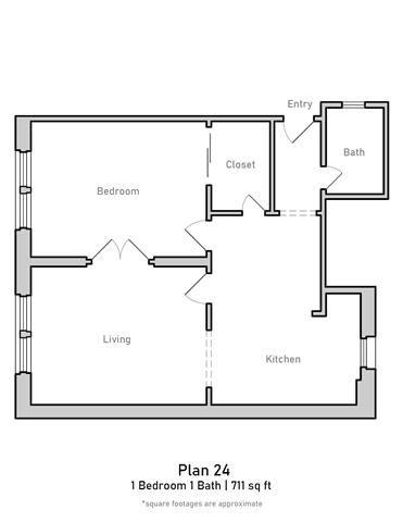 1 Bedroom - Large - Plan 24