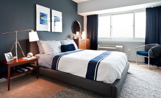 The Vue luxury apartment bedroom