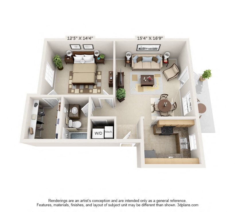 The Charleston Floor Plan 1