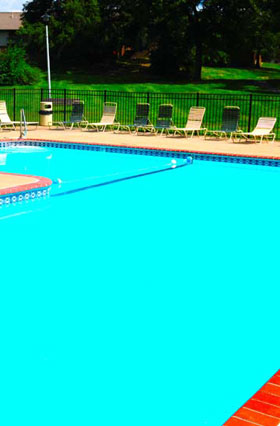 Outdoor Pool at The Knolls Apartments in North County St. Louis