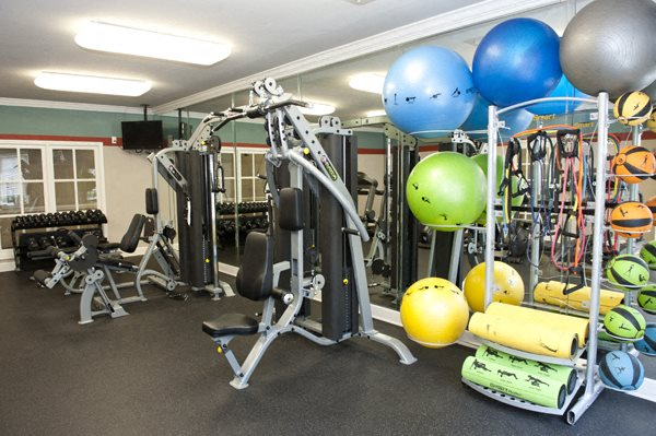 Fitness equipment at Sterling Magnolia, NC, 28211